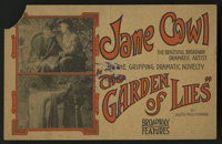 "The Garden of Lies (Universal, 1915). Herald (""3.5 X 5.5""). Drama"