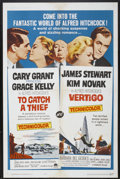 "Movie Posters:Hitchcock, To Catch a Thief/Vertigo Combo (Paramount, R-1963). One Sheet (27""X 41""). Hitchcock...."