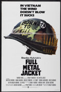"Movie Posters:War, Full Metal Jacket (Warner Brothers, 1987). One Sheet (27"" X 41"").Advance. War...."