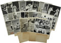 Baseball Collectibles:Photos, 1943-48 Cleveland Indians Original Service Photographs Lot of 37.Dazzling collection of original service photographs datin...