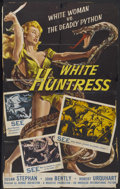 "Movie Posters:Adventure, White Huntress (American International, 1957). One Sheet (24"" X38.5""). Adventure...."
