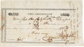 Miscellaneous:Ephemera, Texas War of Independence Pay Voucher, 1836. ...
