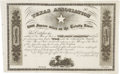 Miscellaneous:Ephemera, Unrecorded Mercer Colony/Texas Association Stock Certificate. ...