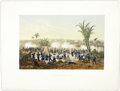 "Antiques:Posters & Prints, [Mexican War] ""Bombardment of Vera Cruz"",..."