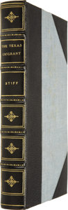 Books:First Editions, Col. Edward Stiff. The Texan Emigrant:...
