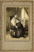 """American Indian Art, """"MRS. MARY CARSON,"""" TRIBE UNKNOWN, POSSIBLY OSAGE. c. 1895. ..."""