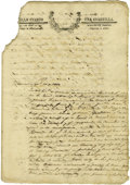 Miscellaneous:Ephemera, 1837 Reynosa Civil Suit Documentation. ...