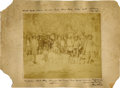 Photography:Cabinet Photos, Southwest Native American Policemen and Families Large FormatImperial Card, ca. 1885....