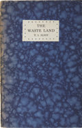 Books:First Editions, T.S. Eliot. The Waste Land. Richmond: Printed and Publishedby Leonard and Virginia Woolf at the Hogarth Press, 1923...