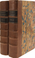 Books:First Editions, Samuel Johnson. A Dictionary of the English Language;...(Total: 2 Items)