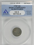 Early Half Dimes, 1797 H10C 15 Stars--Bent, Corroded, Scratched--ANACS. VG8Details....