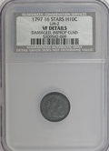 Early Half Dimes, 1797 H10C 16 Stars--Damaged, Improperly Cleaned--NCS. VFDetails....