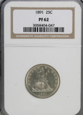 Proof Seated Quarters: , 1891 25C PR62 NGC. NGC Census: (12/144). PCGS Population (26/133).Mintage: 600. Numismedia Wsl. Price for NGC/PCGS coin in...