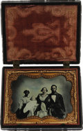 Photography:Tintypes, African-American Nursemaid (Slave) Posing with Her Family, ca1860s....