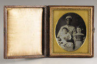 African-American Nursemaid (Slave) with Two White Children, Cased Daguerreotype, New Orleans, Ca. 1850s