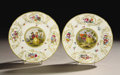 Decorative Arts, Continental:Other , SIX MEISSEN PLATES FROM THE 'THREE EMPEROR SERVICE' . Meissenfactory - White Porcelain, Manufactured between 1810 and 1820...(Total: 6 Items)