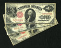 Fr. 36 Trio of $1 1917 Legal Tender Notes Fine. A well circulated and problem free trio of legal tender notes with one F...