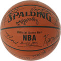 Basketball Collectibles:Balls, 1986 NBA All-Star Game Multi-Signed Basketball. This immaculateoffering puts the signatures of 27 who participated in the ...