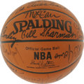 Basketball Collectibles:Balls, Boston Celtics Legends Basketball Signed By 21. From the franchiseresponsible for the foremost dynasty in NBA history we o...