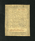 Colonial Notes:Pennsylvania, Pennsylvania April 10, 1777 6d Very Fine-Extremely Fine. A pleasingcirculated small change note that is attractive with a s...