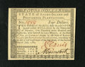 Colonial Notes:Rhode Island, Rhode Island July 2, 1780 $4 Gem New. An exceptional example fromthis later Rhode Island issue that is as nice as any we've...