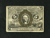 Fr. 1235 5c Second Issue Fine. This is a scarce Friedberg number that was printed on fiber paper. Friedberg 1235 is 50 t...