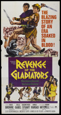 "Movie Posters:Adventure, The Revenge of Spartacus (Paramount, 1965). Three Sheet (41"" X81""). Also known as Revenge of the Gladiators. Adventure...."