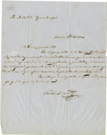 Autographs:Non-American, General Nicolás Bravo Rueda Autograph Letter Signed Regarding theNew State of Guerrero. ...