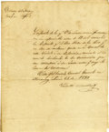 Autographs:Military Figures, Valentin Canalizo Manuscript Document Signed,...