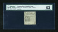 Colonial Notes:Connecticut, Connecticut October 11, 1777 7d Uncancelled PMG Choice Uncirculated 63....
