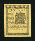 Colonial Notes:Delaware, Delaware May 1, 1777 3d Gem New....