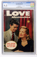 Golden Age (1938-1955):Romance, Love Memories #3 Mile High pedigree (Fawcett, 1950) CGC VG+ 4.5White pages....