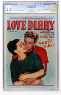 Golden Age (1938-1955):Romance, Love Diary #25 Mile High pedigree (Our PublishingCo./Toytown/Patches, 1952) CGC FN- 5.5 White pages....