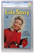 Golden Age (1938-1955):Romance, Life Story V2#10 Mile High pedigree (Fawcett, 1950) CGC FN- 5.5White pages....
