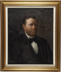 """Political:3D & Other Display (pre-1896), ULYSSES S. GRANT. . Freeman Woodcock Thorp (American, 1844-1922). . Oil on canvas. . 21"""" x 26"""" sight size. Framed to..."""