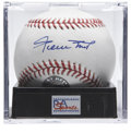 Autographs:Baseballs, Willie Mays Single Signed Baseball, PSA Mint 9. Very nice sweetspot offering courtesy of the Say Hey Kid, complete with Ma...