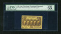 Fractional Currency:First Issue, Fr. 1279 25c First Issue with Two Full Perforation Strips PMG Gem Uncirculated 65 EPQ....