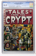 Golden Age (1938-1955):Horror, Tales From the Crypt #33 (EC, 1952) CGC VF 8.0 Off-white pages....