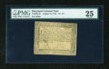 Colonial Notes:Maryland, Maryland August 14, 1776 $1 1/3 PMG Very Fine 25....