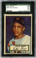 Baseball Cards:Singles (1950-1959), 1952 Topps Willie Mays #261 SGC 70 EX+ 5.5. Wildly popular amongserious cardboard enthusiasts, the 1952 Topps baseball iss...