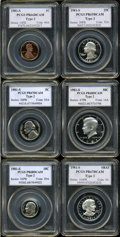 Proof Sets, 1981-S 1C Type 2 Proof Set PCGS. The Set includes; 1981-S Cent PR66 Deep Cameo PCGS, 1981-S Nickel PR67 Deep Cameo PCGS; 1981... (Total: 6 coins)