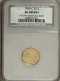 Classic Quarter Eagles, 1838-C $2 1/2 --Bent, Mount Removed--NCS. AU Details. Accompanied by an ANACS Certificate. NGC Census: (4/53). PCGS Populat...