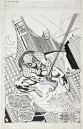 Original Comic Art:Splash Pages, Howard Bender and Mike Esposito - Captain Britain #34 Spider-ManSplash Page Original Art (Marvel UK, 1977)....
