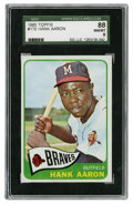 Baseball Cards:Singles (1960-1969), 1965 Topps Hank Aaron #170 SGC 88 NM/MT 8. In 1965 could anyonehave known that Hammerin' Hank would go on to break Ruth's ...