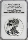 Modern Bullion Coins, 2006-P $1 Reverse Proof Silver Eagle, 20th Anniversary PR68 NGC.PCGS Population (593/12027). Numismedi...