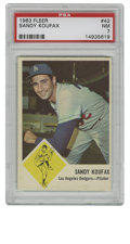 Baseball Cards:Singles (1960-1969), 1963 Fleer Sandy Koufax #42 PSA NM 7. The recognizable worn by thelefty ace Sandy Koufax is on display for the tip-top #42...