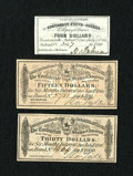 Confederate Notes:Group Lots, Three Confederate Bond Coupons.. ... (Total: 3 items)