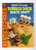 Golden Age (1938-1955):Funny Animal, Dell Giant Comics Donald Duck Beach Party #2 - File Copy (Dell,1955) Condition: VF....