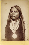 "Photography:Cabinet Photos, W. S. Soule, Photograph of Indian ""Big Bow"" Kiowa, ca. 1870s...."