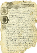 Autographs:Non-American, Alonso de Leon Manuscript Document Signed Twice, ...